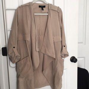 Draped Trench Coat